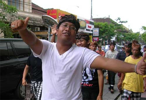 Balinese man attending funeral