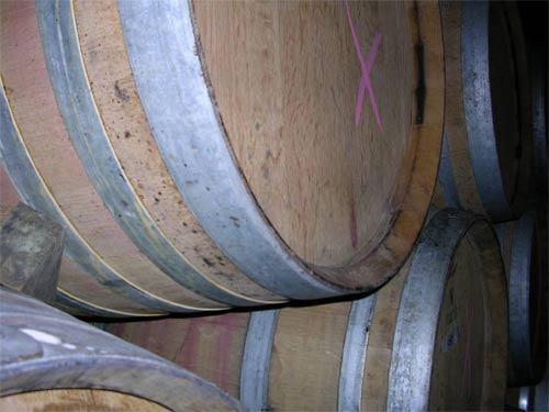Barrels at a New Zealand winery.