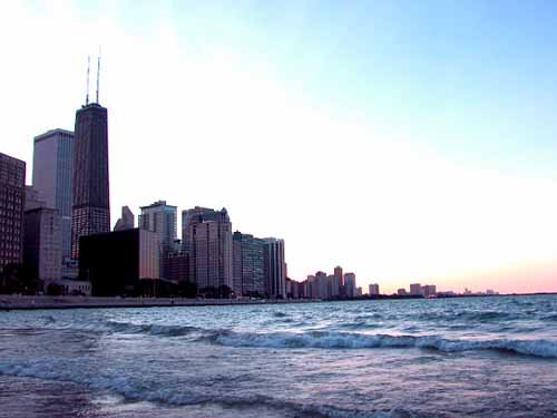 Chicago skyline from the beach, photo by Ildar Sagdejev