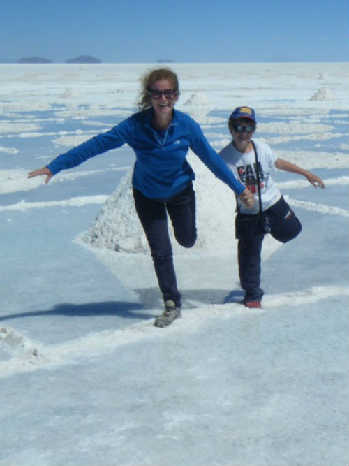 A single mum from Australia visits the salt flats with her son - Exploramum and Explorason