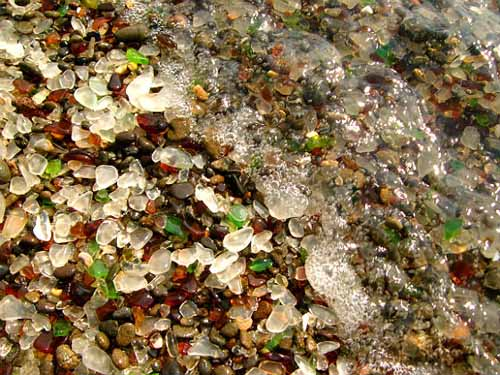 Glass Beach at Fort Bragg, photo by Jef Poskanzer
