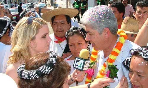 A Projects Abroad volunteer on a journalism placement in Mexico