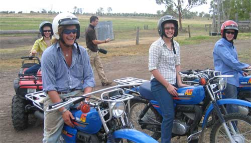 Career breakers on motorbikes and quad bikes (image: Real Gap)