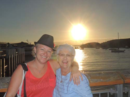 Sally Robinson and her auntie in New Zealand on Sally's career break