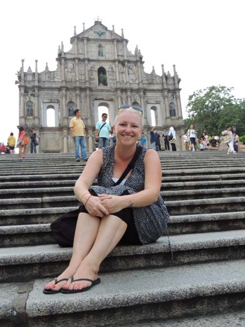 Outside St Michael's in Macau