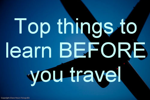 Top things to learn before you travel