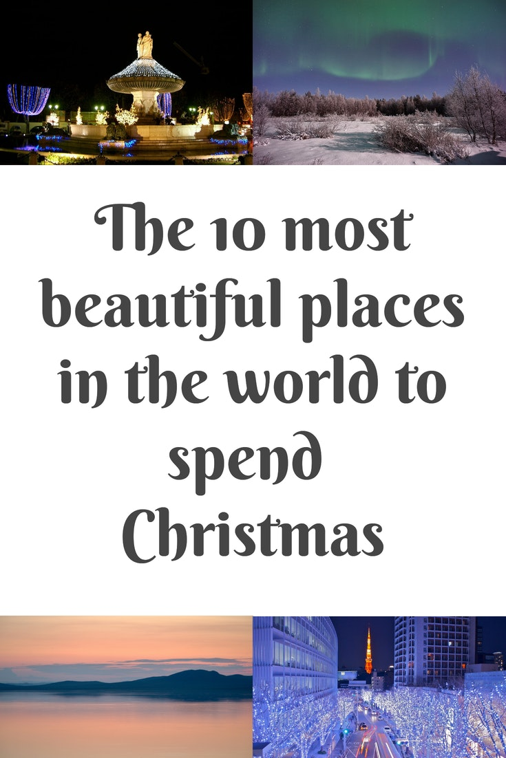 The 10 most beautiful places to spend Christmas