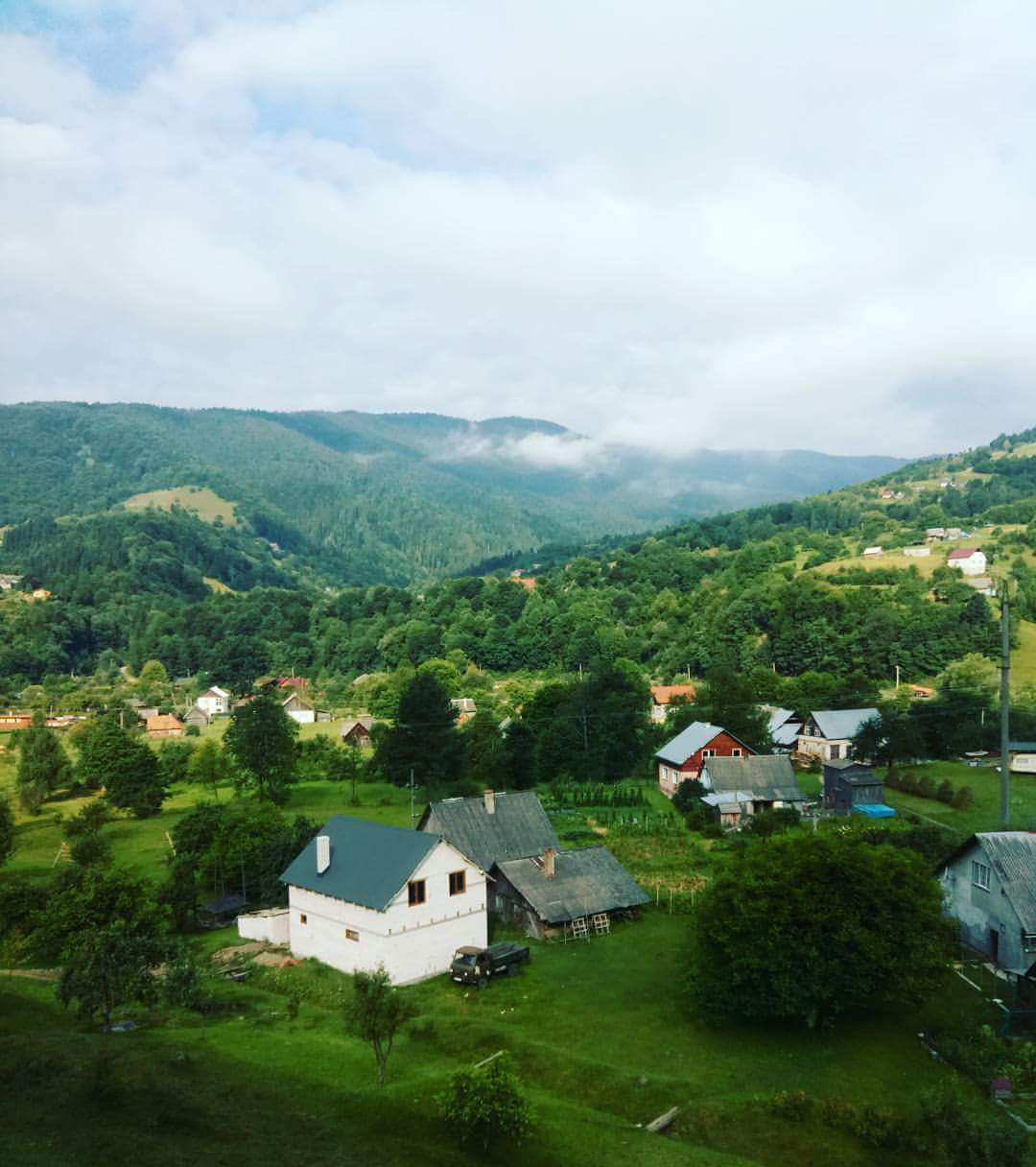 Carpathian Mountains, Ukraine where Joan Selby taught TEFL English