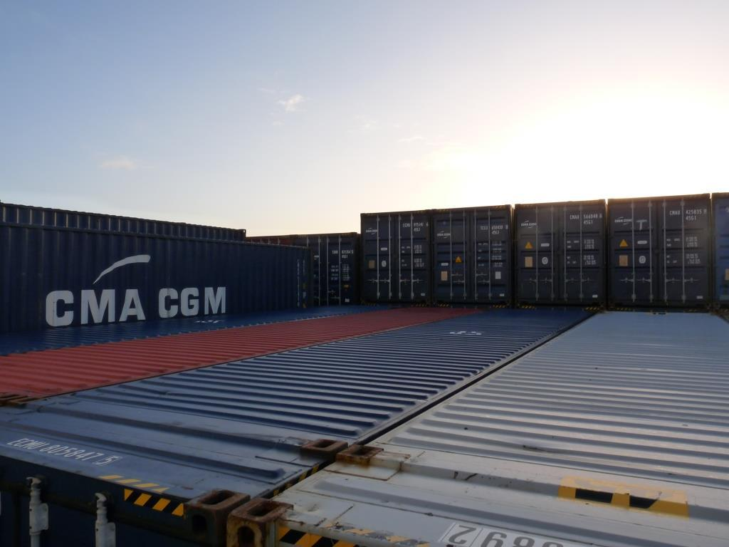 Containers in the sun