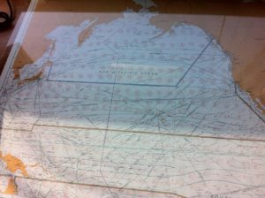 A map on board ship