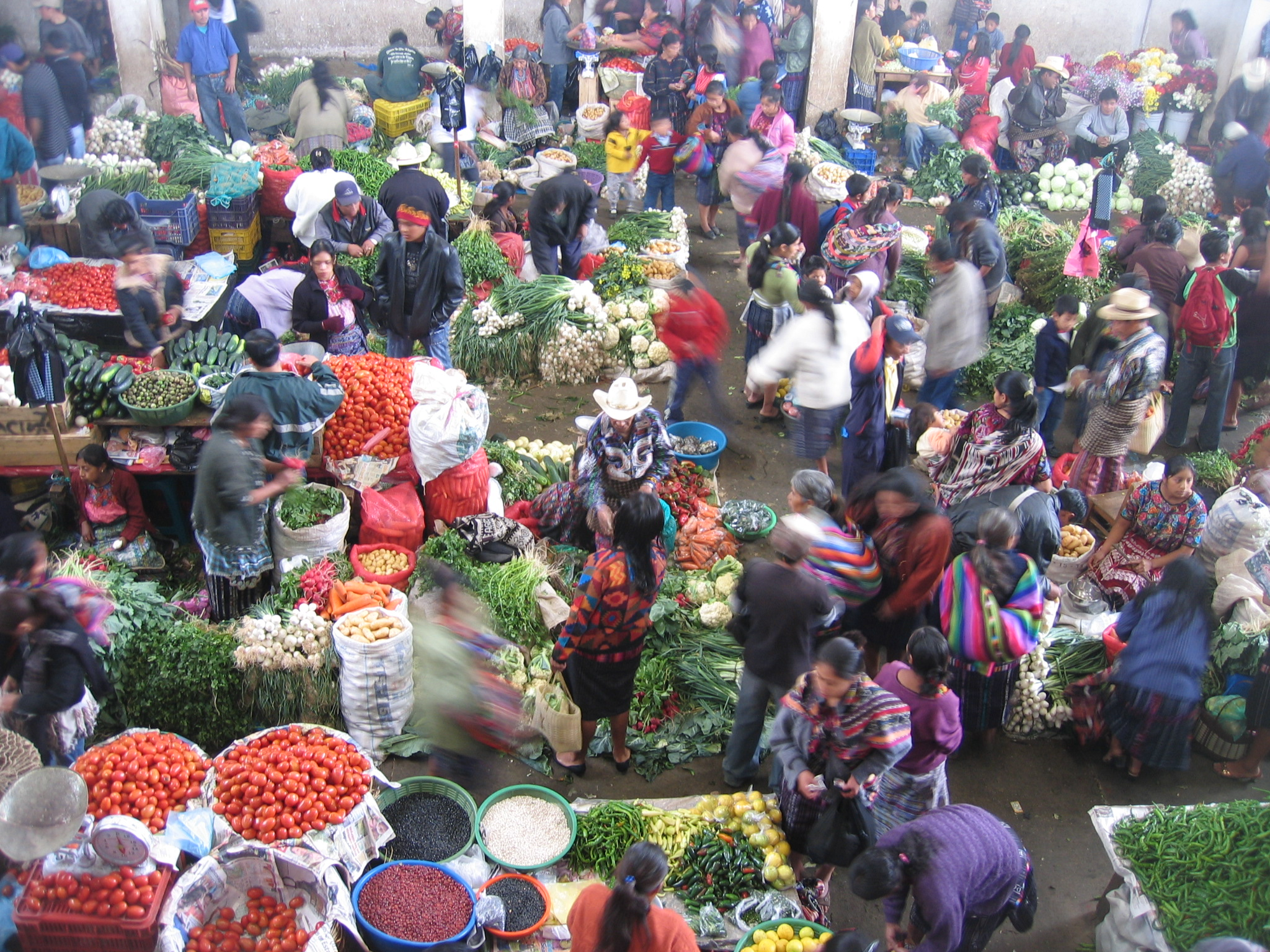 Busy foreign fruit and flower market - Matthew Lightfoot