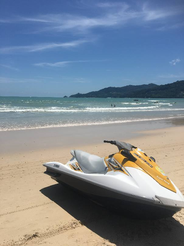 Patong beach in Phuket, Thailand, where Carly booked her ticket to
