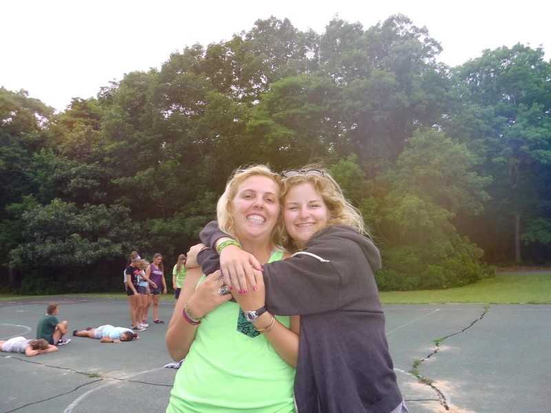 Sophie Hollis and her girlfriend Jo on BUNAC's Summer Camp USA programme