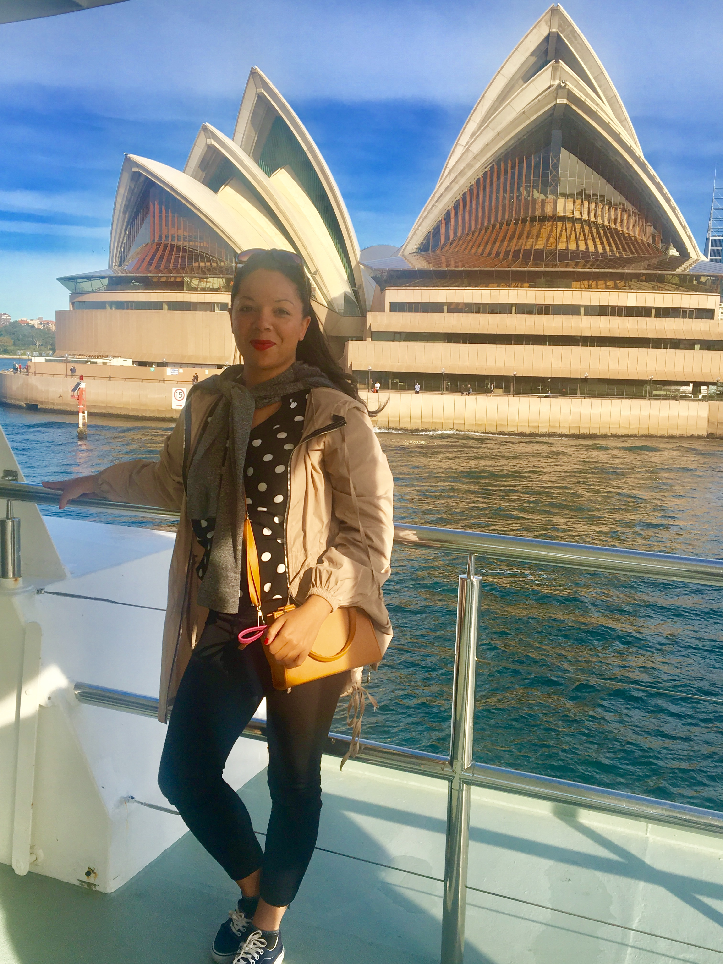 Carly outside the Sydney Opera House