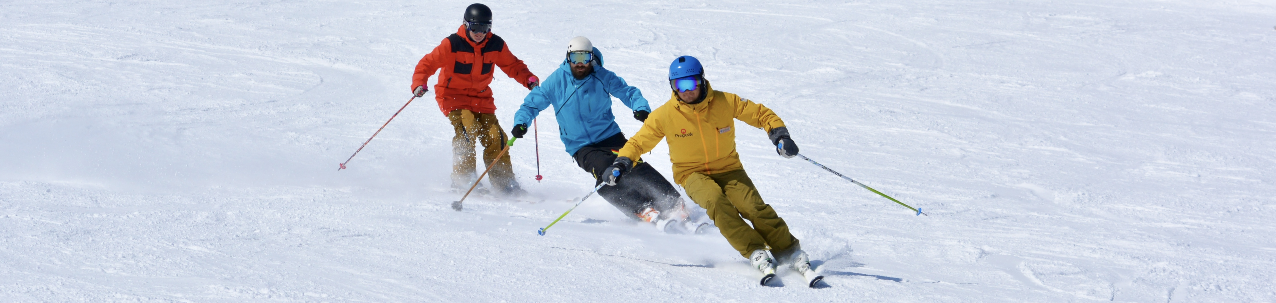 We Are Sno ski instructor course students skiing
