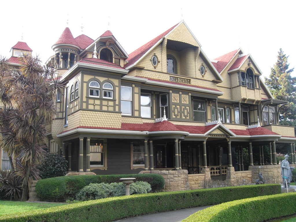 The Winchester House, California - weird places on earth to visit