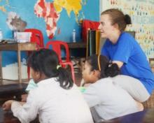 Concentrating in class Teaching and Curriculum Development in Cambodia