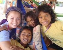 Volunteer and children Teaching and Curriculum Development in Cambodia