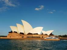 Beautiful photo of Sydney Opera house on a sunny day