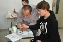 Learning caligraphy in China